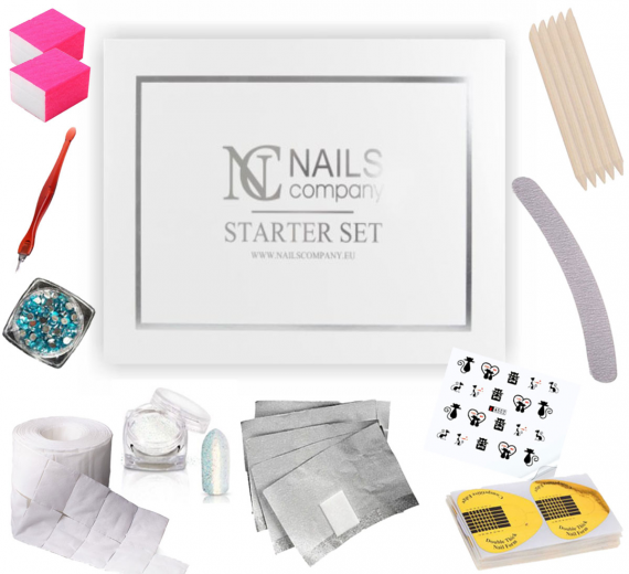 Nails Company zestaw startowy do manicure hybrydowego Smart Set + 36 GRATISÓW!