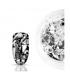 Efekt szkła lustra glass broken mirror effect silver