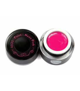 Neonail paint uv gel żel studio line - neon pink