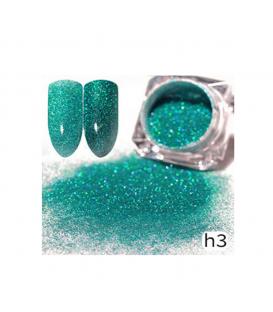 Efekt sparkling dust holo szron 2w1 w słoiczku h3 - amazing line