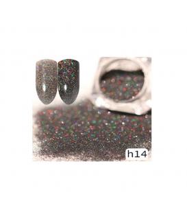 Efekt sparkling dust holo szron 2w1 w słoiczku h14 - amazing line