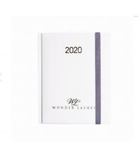 Wonder Lashes Kalendarz tygodniowy biały