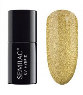 Semilac lakier hybrydowy sharm effect gold 619
