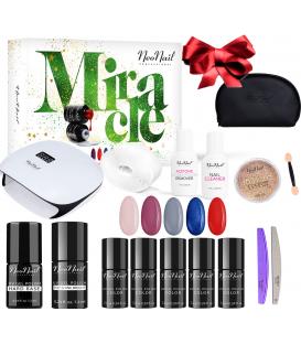 Neonail zestaw do manicure hybrydowego Miracle Set + kosmetyczka gratis