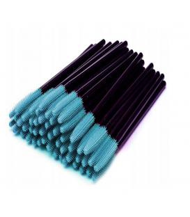 Szczoteczka silikonowa do rzęs i brwi 50 sztuk niebieskie