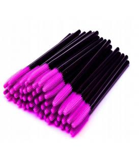Szczoteczka silikonowa do rzęs i brwi 100 sztuk fioletowe