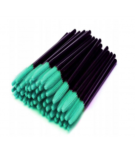 Szczoteczka silikonowa do rzęs i brwi 100 sztuk zielone