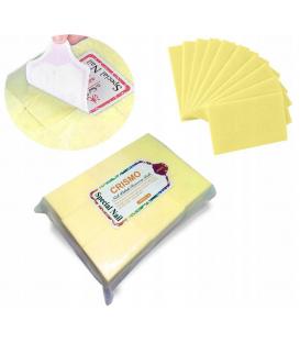 Waciki bezpyłowe bawełna kostka 1000 szt żółte