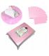Waciki bezpyłowe bawełna kostka 1000 szt różowe
