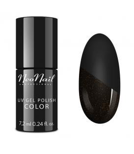 Neonail Top Glow Gold – top ze złotym brokatem