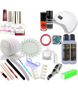 Zestaw startowy z lampą LED lakier indigo 24 elementy