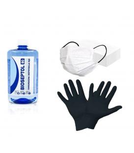 Bioseptol 80 dezynfekcja rąk 1l + 10 rękawiczek + 5 maseczek