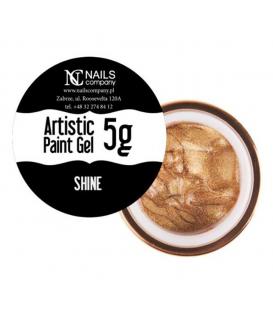 WYPRZEDAŻ Nails company artistic paint gel do zdobień 5g złoty