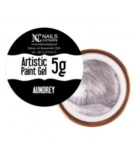 WYPRZEDAŻ Nails company artistic paint gel do zdobień 5g srebrny