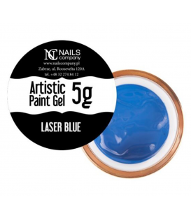Nails company artistic paint gel do zdobień 5g niebieski