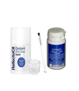 Zestaw henna w proszku 50g oxidant naczynko pędzelek
