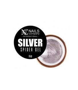 Nails company spider gel geometryczny do zdobień silver 5g