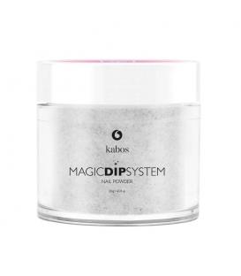 Proszek Do Manicure Tytanowego - Kabos Magic Dip System 17 Sparkle Silver 20g