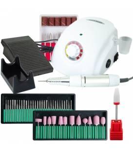 Frezarka do Manicure Pedicure 45W + Zestaw Frezów